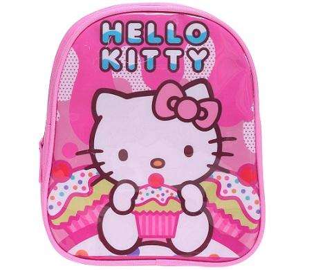 mochila hello kitty kiabi rosa detalle