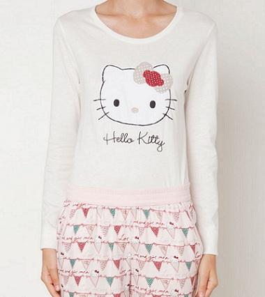 pijamas hello kitty oysho otoño