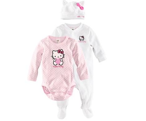 ropa bebé hello kitty hm bodies