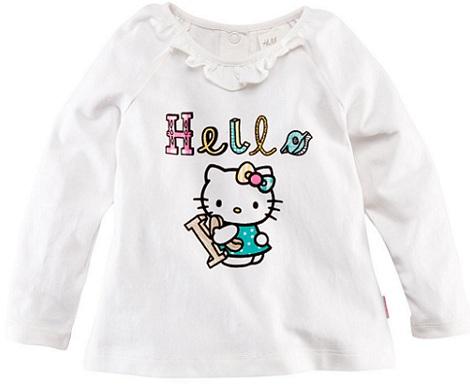 ropa bebé hello kitty hm camiseta volantes