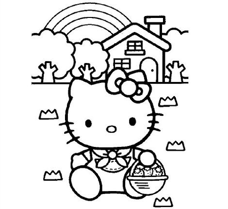 6 dibujos hello kitty imprimir gratis fresas