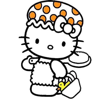 6 dibujos de hello kitty para imprimir gratis gorro