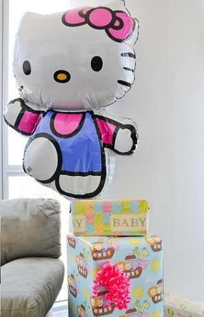 baby shower hello kitty globo
