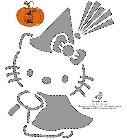 calabazas halloween hello kitty plantilla 2