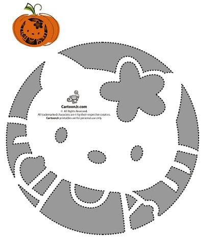 calabaza halloween hello kitty plantilla 3
