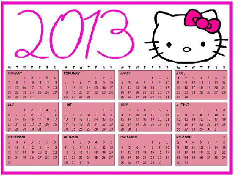 Calendario 2013 Hello Kitty