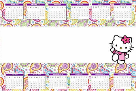 Calendario Hello Kitty