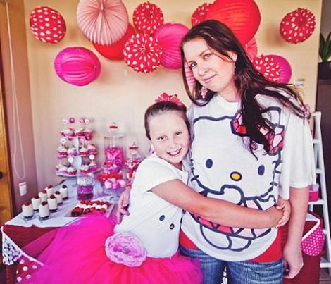 cumpleaños hello kitty rosa vestidos