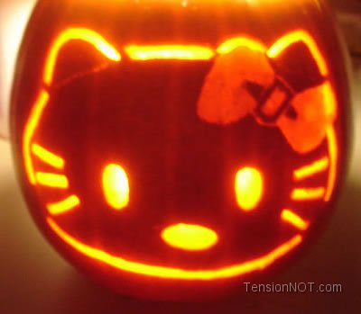 hello kitty halloween calabaza luz