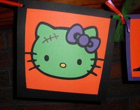 hello kitty halloween guirnalda