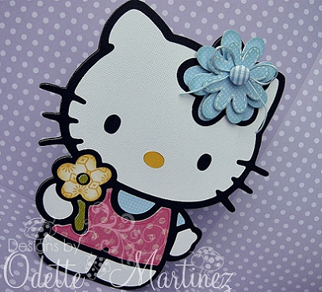 invitaciones cumpleaños hello kitty caseras lazo azul