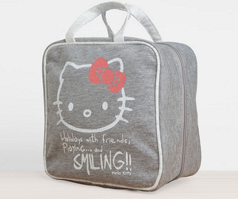 neceser hello kitty gris