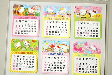 Pegatinas de calendario Hello Kitty
