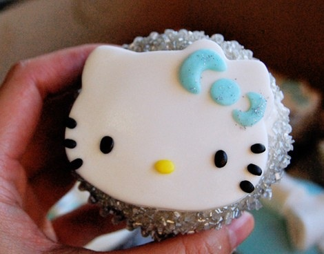 cupcakes hello kitty purpurina
