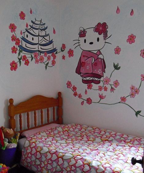 Mural de Hello Kitty