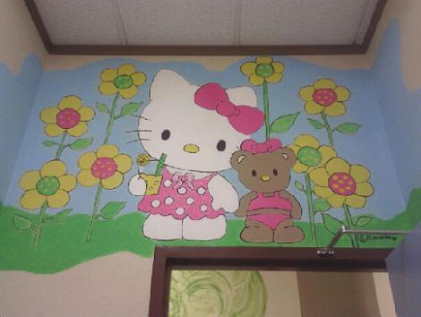 Mural para habitación infantil: Hello Kitty