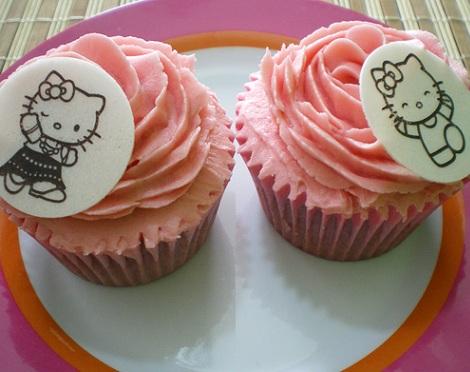 receta cupcakes hello kitty resultado