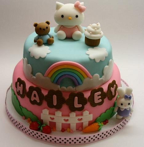 tartas cumpleaños hello kitty bicolor