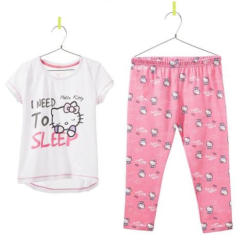 pijama de zara para niña de Hello Kitty